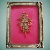 Framed Quilling Flower