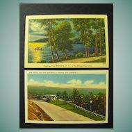New York Postcards on Linen Stock Circa 40s or 50s
