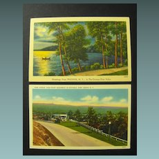 New York Postcards on Linen Stock Circa 40s or 50s