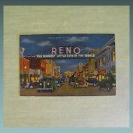 Postcard: Reno's Virginia Street 1930s/40s on linen stock