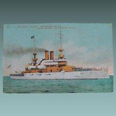 Postcard: Battleship Illinois: Circa Early 1900s