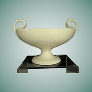 Lenox oval bowl on pedestal with handles Circa: Pre 1953