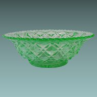 Imperial Glass Little Jewel or Diamond Block Bowl Circa: 1920s-30s