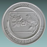 Frankoma Iowa trivet or wall plaque