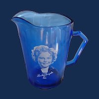 Hazel Atlas Shirley Temple Pitcher  Circa 1930s
