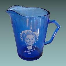 Hazel Atlas Shirley Temple Pitcher  Circa 1930s