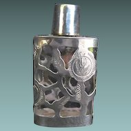 Perfume Bottle: Mexican Sterling Overlay