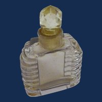 Perfume Mini Bottle: Light lavender in color              Circa Est.-1920s