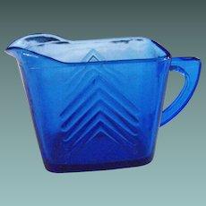 Hazel Atlas: Chevron Blue pitcher                    Circa: 1930s