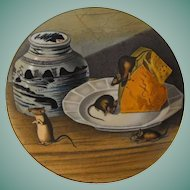 """Gorham Plate, The American Wildlife Heritage, """"House Mouse"""""""