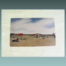Postcard: Lake Michigan Beach: Chicago: 1950's
