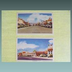 Postcards (2) from Tijuana, Mexico, circa 1930's
