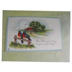 Postcard: Greeting                                                       Circa 1916