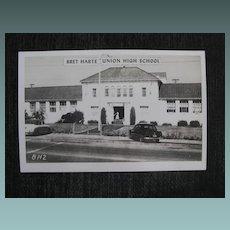 Photo postcard Bret Harte Union High School               Circa: 1950s