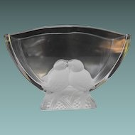 Verlys Vase with Frosted Doves                        Circa: 1935