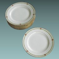 (6)G. D. A Limoges b&B plates                              Circa:   Mid 20th