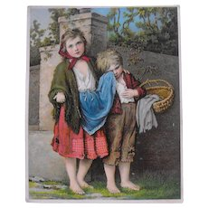 "Trade Card ""The Beggar Children"""