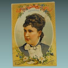 Trade Card: Great Singers and Singer Sewing Machine