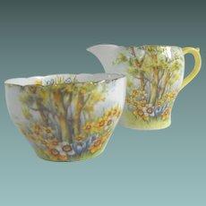 Shelley cream and sugar   Daffodil Time