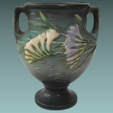 Roseville Green Freesia Double Handled Urn     1945