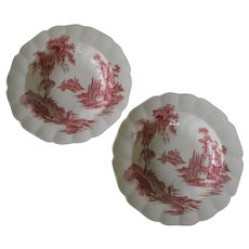 """Johnson Brothers The Old Mill 8"""" Rimmed Soup Bowls"""