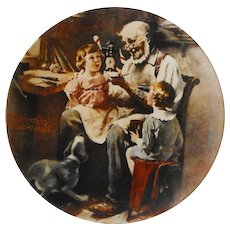 """Rockwell Collector Plate: """"The Toy Maker"""""""