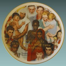 """Rockwell Collector Plate: """"Do Unto Others"""" by Gorham"""