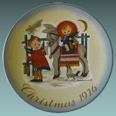 Schmid Collector Plate, Christmas 1976
