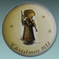 Schmid Collector Plate, Christmas, 1972