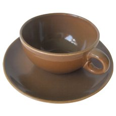 Casual Brown by Russel Wright Cup and Saucer