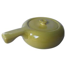 American Modern -chartreuse covered casserole  by Russel Wright