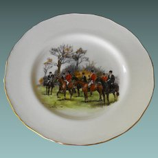 Royal Worcester Fox Hunt Plates by T. Ivester Lloyd  Rare