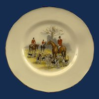 Royal Worcester Fox Hunt Plates by T. Ivester Lloyd