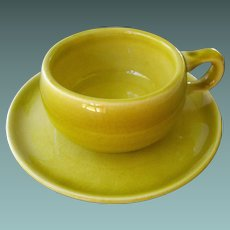 American Modern - chartreuse demitasse by Russel Wright