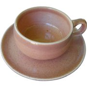 American Modern - coral demitasse by Russel Wright