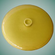 American Modern - chartreuse round vegetable lid by Russel Wright