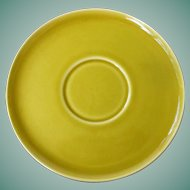American Modern chartreuse saucer by Russel Wright