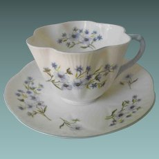 Shelley Blue Rock cup and saucer
