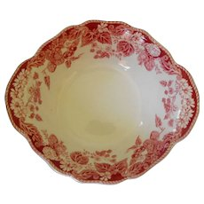Lug soup bowl in Strawberry Fair by Johnson Brothers  (3)