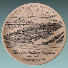 Scio Pottery, Ohio 1961 souvenir plate  1961