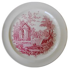Luncheon Plate in English Abbey by Taylor Smith and Taylor
