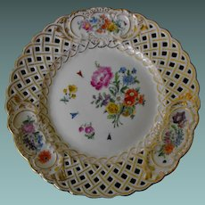 19th century reticulated German cabinet plate