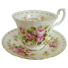 Royal Albert Flower of the month June cup and saucer