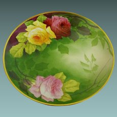 Limoges Bowl 12.75 inches   artist A. Bronssillon