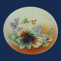 Fraureuth Saxony artist signed Cabinet plate   Circa 1910-1926