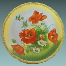Volkstedt Beyer and Bock artist signed 10 inch plate          circa: 1905-1931