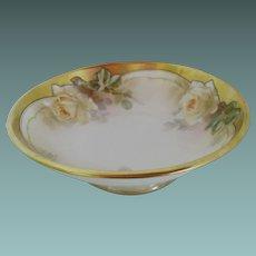 Reinhold Schlegelmilch gilded 8.5 inch bowl   Circa: 1904-38