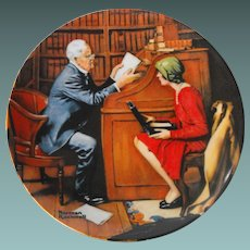 """""""The Professor"""" from the Rockwell Heritage Collection"""" by Knowles"""