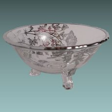 Tri-foot bowl with Silver City overlay