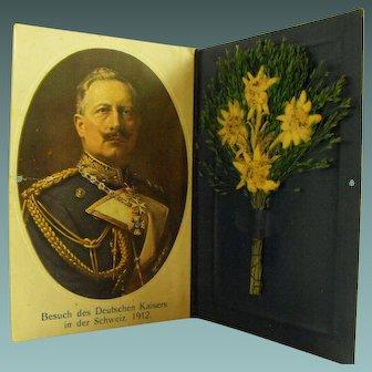 Portrait table Card of Kaiser Wilhelm in Switzerland